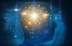 Ejemplo de la cabeza del cerebro humano libre illustration