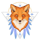 Ejemplo de la cabeza del Fox ilustración del vector