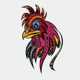 Ejemplo de la cabeza del gallo de Ornet Fotografía de archivo