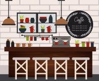 Ejemplo de la cafetería stock de ilustración