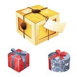 Ejemplo de la caja de regalo Imágenes de archivo libres de regalías
