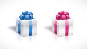 ejemplo de la caja de regalo del vector Fácil corregir Imagen de archivo