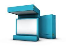 ejemplo de la caja Open en un fondo blanco Imagenes de archivo