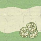 Ejemplo de la cal del limón stock de ilustración