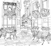Ejemplo de la calle de la ciudad stock de ilustración