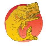 Ejemplo de la camiseta de la moda de la ballena Foto de archivo libre de regalías