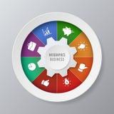 Ejemplo de la carta del círculo de Infographic para el negocio Fotografía de archivo