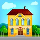 Ejemplo de la casa de la historieta Fotografía de archivo libre de regalías