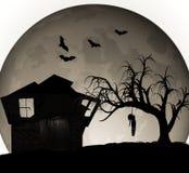 Ejemplo de la casa encantada de Halloween Foto de archivo libre de regalías