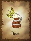 Ejemplo de la cerveza en estilo de la historieta stock de ilustración