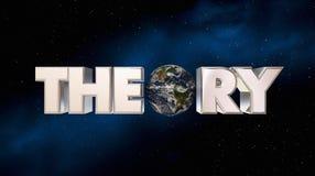 Ejemplo de la ciencia 3d de la astronomía del planeta del espacio de la tierra de la teoría Fotografía de archivo