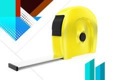 ejemplo de la cinta de la medida 3d Fotografía de archivo