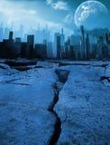 Ejemplo de la ciudad del terremoto Imagen de archivo