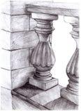 Ejemplo de la columna arquitectónica del elemento libre illustration