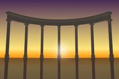 Ejemplo de la columnata 2 Imágenes de archivo libres de regalías