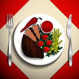 Ejemplo de la comida Foto de archivo libre de regalías
