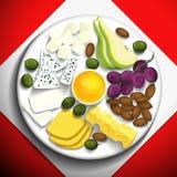 Ejemplo de la comida Imagen de archivo