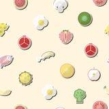 Ejemplo de la comida sana en diseño plano Fotografía de archivo