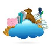 Ejemplo de la computación de la nube y del concepto del negocio libre illustration