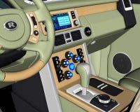 Ejemplo de la consola del tablero de instrumentos del coche del vehículo Foto de archivo libre de regalías