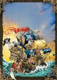 Ejemplo de la cubierta o del cartel de libro del pirata libre illustration