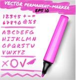 Ejemplo de la de fieltro-pluma del vector Fotos de archivo libres de regalías