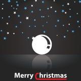 Ejemplo de la decoración de la Feliz Navidad Imagen de archivo