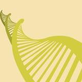 Ejemplo de la DNA en diseño plano ilustración del vector