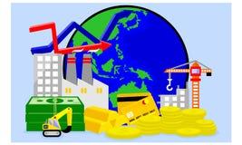 Ejemplo de la economía mundial stock de ilustración
