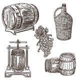 Ejemplo 1 de la elaboración de vino ilustración del vector