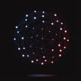 Ejemplo de la esfera atómica moderna Imagen de archivo libre de regalías