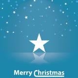Ejemplo de la estrella de la Feliz Navidad Fotografía de archivo libre de regalías