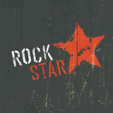 Ejemplo de la estrella del rock Vector Imagen de archivo libre de regalías