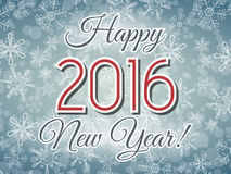 Ejemplo de la Feliz Año Nuevo 2016 Fotografía de archivo libre de regalías