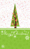 Ejemplo de la Feliz Navidad. ilustración del vector