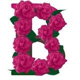 Ejemplo de la flor de la letra B fotos de archivo libres de regalías
