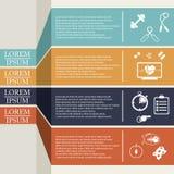 Ejemplo de la forma de vida de la salud infographic en el plano diseñado Imagenes de archivo