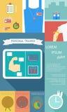 Ejemplo de la forma de vida de la salud infographic en el plano diseñado Imagen de archivo libre de regalías