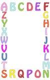 Ejemplo de la frontera del marco de la letra del alfabeto Imagen de archivo
