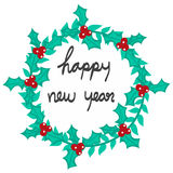 Ejemplo de la guirnalda de la Feliz Año Nuevo Fotografía de archivo