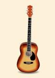 Ejemplo de la guitarra acústica ilustración del vector