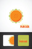 Ejemplo de la hamburguesa del queso Fotografía de archivo