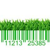 Ejemplo de la hierba del código de barras Fotos de archivo