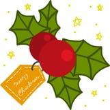 Ejemplo de la historieta de la baya de la Navidad Imagen de archivo libre de regalías