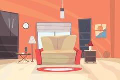 Ejemplo de la historieta de la sala de estar EPS 10 Foto de archivo libre de regalías