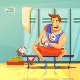 Ejemplo de la historieta de las pesas de gimnasia Fotografía de archivo
