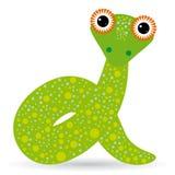 Ejemplo de la historieta de una serpiente en un fondo blanco Imagen de archivo