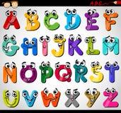 Ejemplo de la historieta del alfabeto de las mayúsculas ilustración del vector