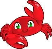 Ejemplo de la historieta del cangrejo Foto de archivo libre de regalías