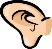 Ejemplo de la historieta del clip art del oído Fotografía de archivo libre de regalías